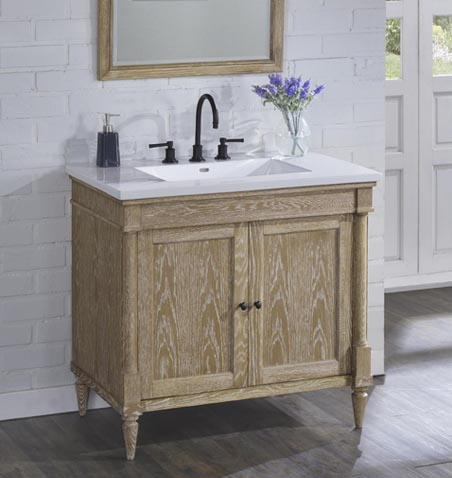 "Rustic Chic 36"" Vanity - Weathered Oak - Fairmont Designs ..."