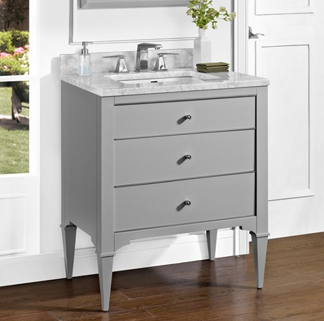Bathroom Vanity Light Gray : Charlottesville 30