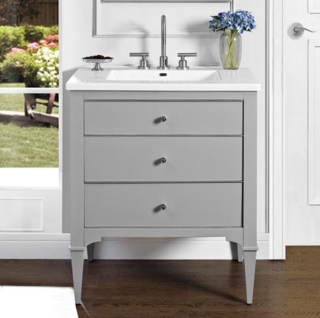 Light Gray Vanity Top : Charlottesville 30