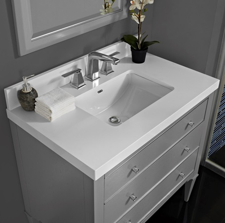 Bathroom Vanity Light Gray : Charlottesville 36