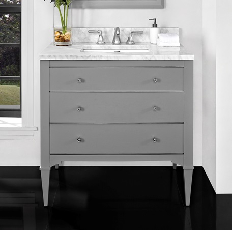 Charlottesville W Nickel 36 Quot Vanity Light Gray