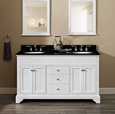 Framingham 60 Double Bowl Vanity Polar White Fairmont Designs Fairmont Designs
