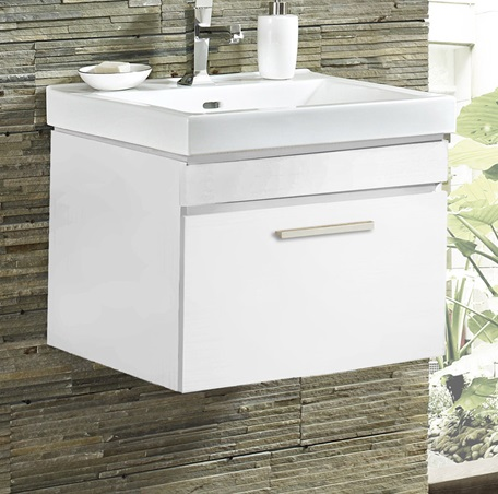 Metropolitan 21 Wall Mount Vanity And Sink Set High Gloss White