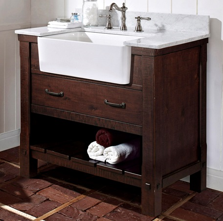 napa 36 farmhouse vanity aged cabernet - Farmhouse Bathroom Vanity