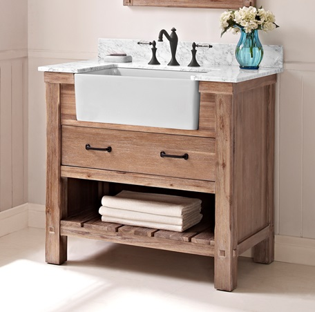 Curved Brown Wooden Bath Vanity Fairmont Designs Bathroom Vanities