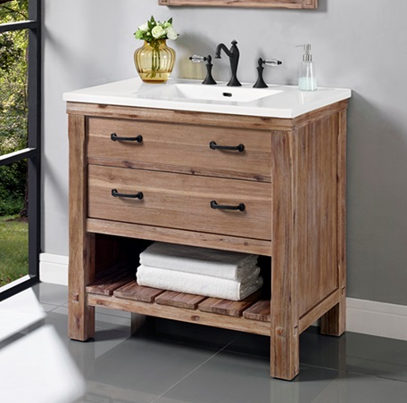 Innovative Home Gt 36 Inch Single Sink Bathroom Vanity With An Open Shelf