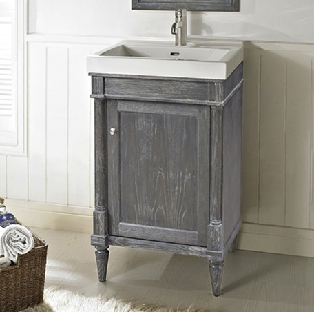 Rustic Chic 21 Vanity And Sink Set   Silvered Oak