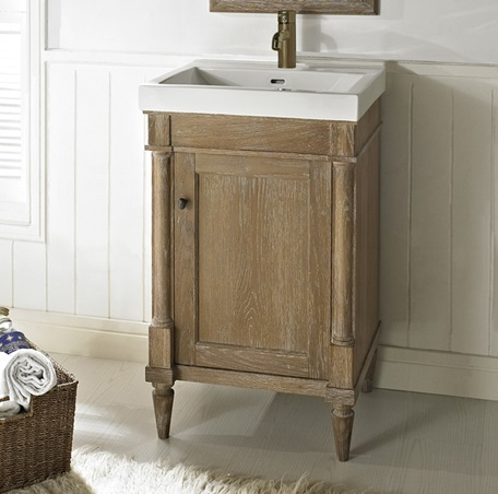 Rustic Chic 21 Quot Vanity And Sink Set Weathered Oak