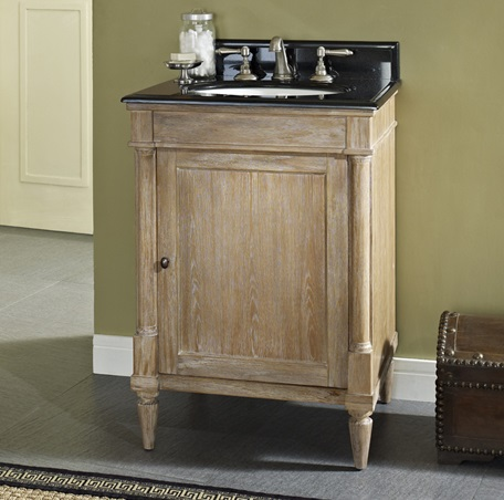 Rustic Chic 24u2033 Vanity U2013 Weathered Oak