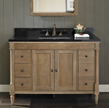 rustic oak bathroom furniture. Rustic Chic 48  Vanity Weathered Oak 142 V48 Fairmont Designs