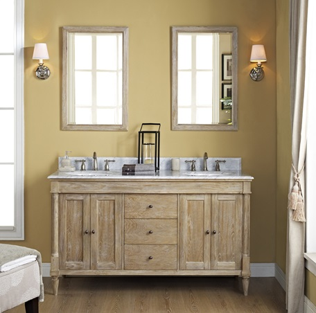 rustic oak bathroom furniture. Rustic Chic 60 Vanity  Double Bowl Weathered Oak Fairmont