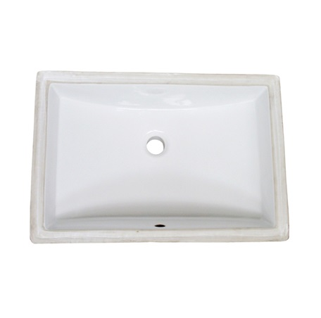 rectangular white ceramic undermount sink fairmont designs