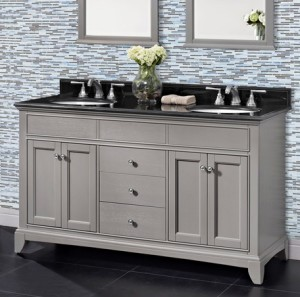 Smithfield 60 Double Bowl Vanity Medium Gray Fairmont Designs Fairmont Designs