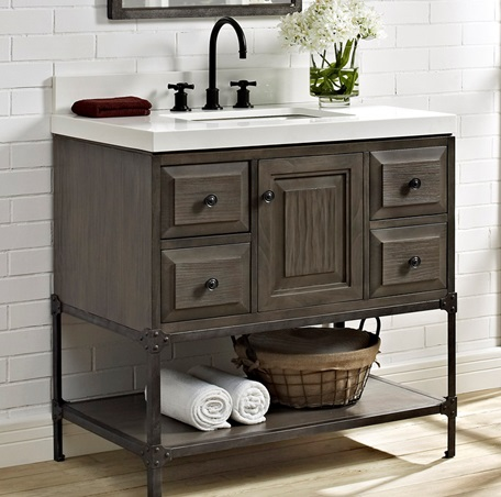Toledo 36 vanity door fairmont designs fairmont designs for Bathroom vanity cabinet 36 inches