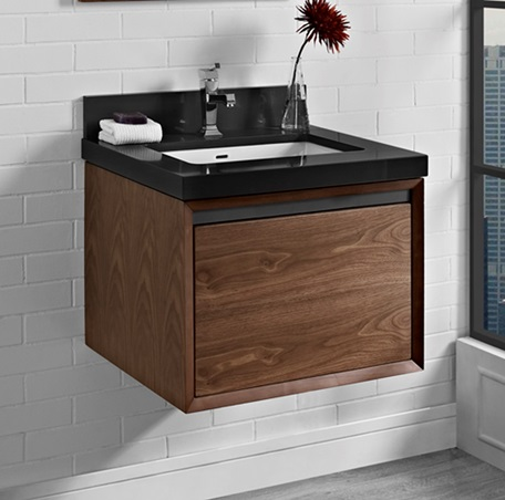 M4 24 Quot Wall Mount Vanity Natural Walnut Fairmont