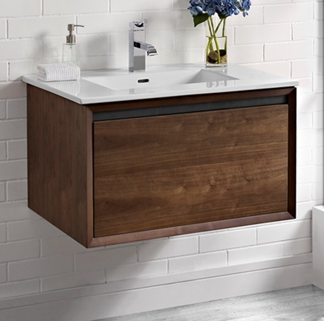M4 30 Quot Wall Mount Vanity Natural Walnut Fairmont