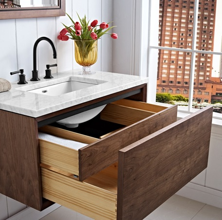 M4 36 Quot Wall Mount Vanity Natural Walnut Fairmont
