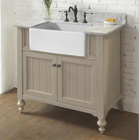 Crosswinds 36u2033 Farmhouse Vanity U2013 Slate Gray