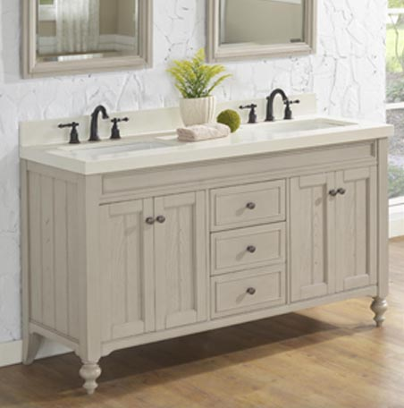 Crosswinds 60 Double Bowl Vanity Slate Gray Fairmont Designs Fairmont Designs