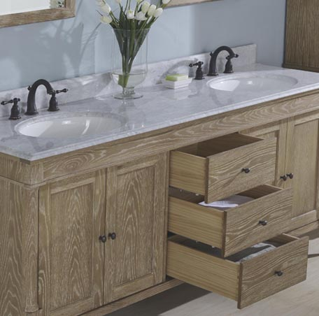Rustic Chic 72 Double Bowl Vanity Weathered Oak