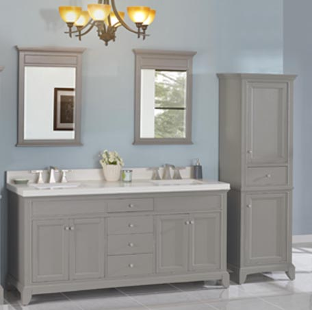 Smithfield 72 Quot Double Bowl Vanity Medium Gray Fairmont