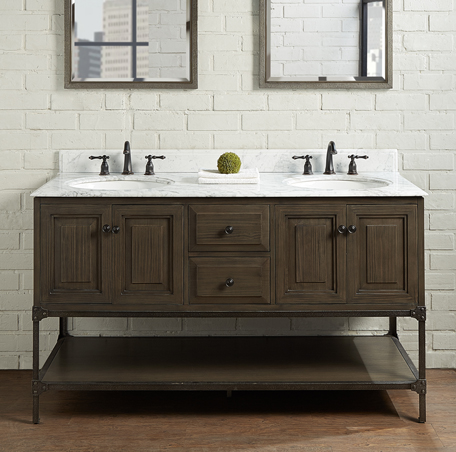 Toledo 60 Double Bowl Vanity Door 1401 6021d