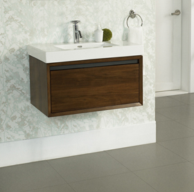 M4 30x18 Quot Wall Mount Vanity Natural Walnut Fairmont