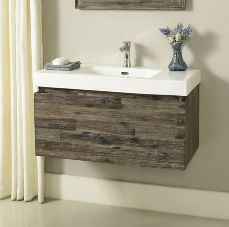 Acacia X Wall Mount Vanity Fairmont Designs Fairmont Designs - Wall mount vanities for bathrooms
