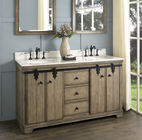 Homestead 60 Double Bowl Vanity Fairmont Designs Fairmont Designs