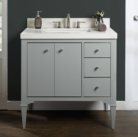 Light Gray Granite Vanity Top : Charlottesville 36