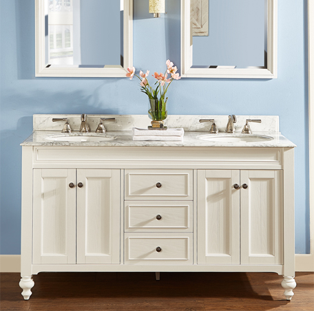 Crosswinds 60 Double Bowl Vanity White Fairmont Designs Fairmont Designs