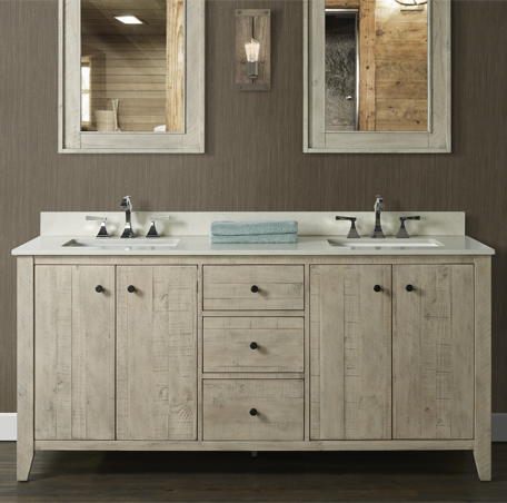 River View 72 Double Bowl Vanity Toasted Almond