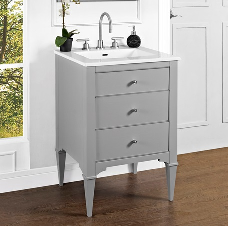 bathroom vanities ideas design charlottesville w nickel 24 quot vanity light gray 16149