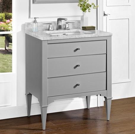 Charlottesville W Nickel 30 Quot Vanity Light Gray
