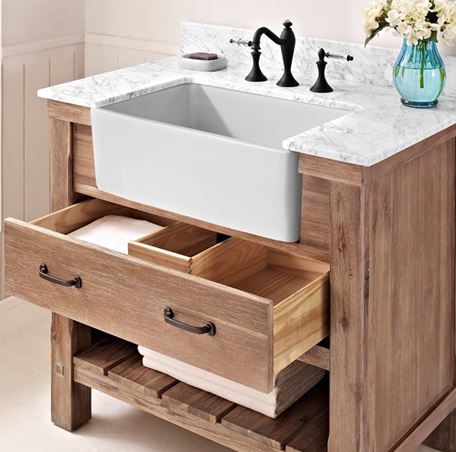 farm sink bathroom napa 36 quot farmhouse vanity sonoma sand fairmont designs 12818
