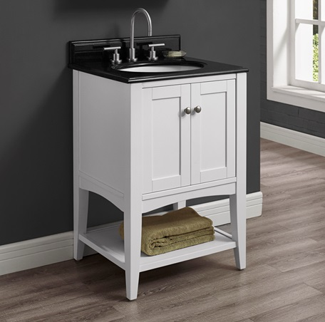 Shaker Americana 24 Quot Open Shelf Vanity Polar White