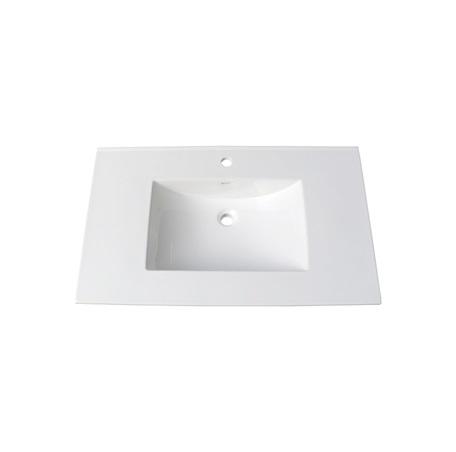37 White Ceramic Vanity Sink Top With Integral Bowl Single Hole Fairmont Designs Fairmont Designs