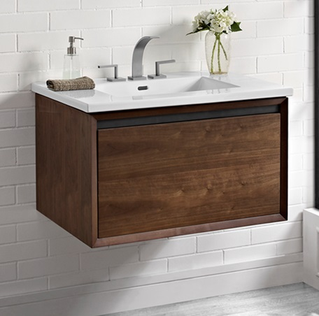 bathroom cabinet wall mounted m4 30 quot wall mount vanity walnut fairmont 11176