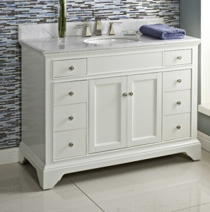 white bathroom vanity 48 framingham 48 quot vanity polar white fairmont designs 21473