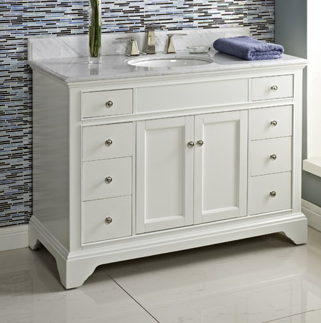 48 white bathroom vanity framingham 48 quot vanity polar white fairmont designs 15321