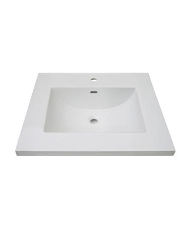 3cm 1 1 4 25 White Ceramic Vanity Sink Top With Inegral Bowl Single Hole Fairmont Designs Fairmont Designs