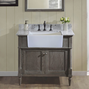 farmhouse sink bathroom vanity rustic chic 36 quot farmhouse vanity silvered oak fairmont 18279