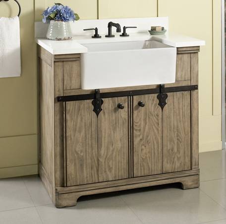farmhouse sink bathroom vanity homestead 36 quot farmhouse vanity fairmont designs 18279