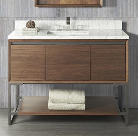 M4 48 Vanity Natural Walnut Fairmont Designs Fairmont Designs