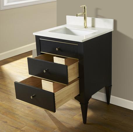 Charlottesville W Brass 24 Vanity Vintage Black Fairmont Designs Fairmont Designs