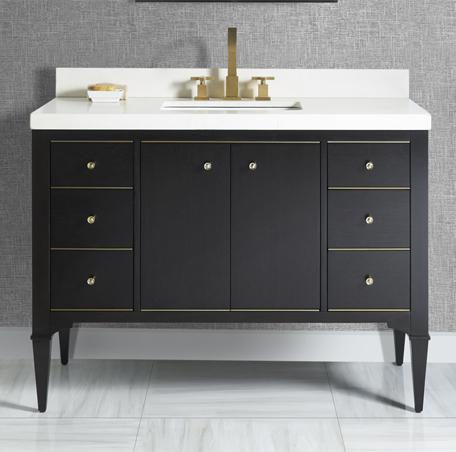 Charlottesville W Brass 48 Vanity Vintage Black Fairmont Designs Fairmont Designs