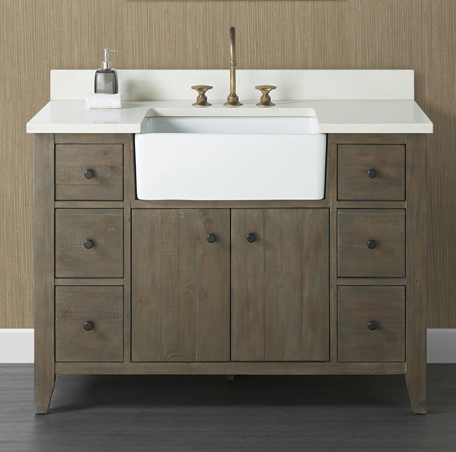 River View 48 Farmhouse Vanity Coffee Bean Fairmont Designs Fairmont Designs